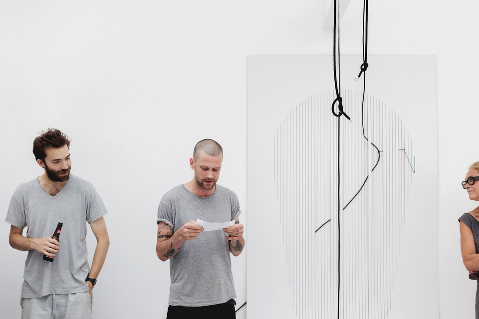 Beatriz Olabarrieta, The LIST, performance of live voice-overs for Shifty-Show, 24th July 2014, Cell Project Space