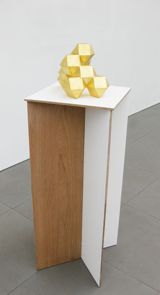 The Fascination of Islands (Maquette) 2009, Card, jesmonite, gold leaf, paint, plywood (h.123cm x w.40cm x d.40cm)