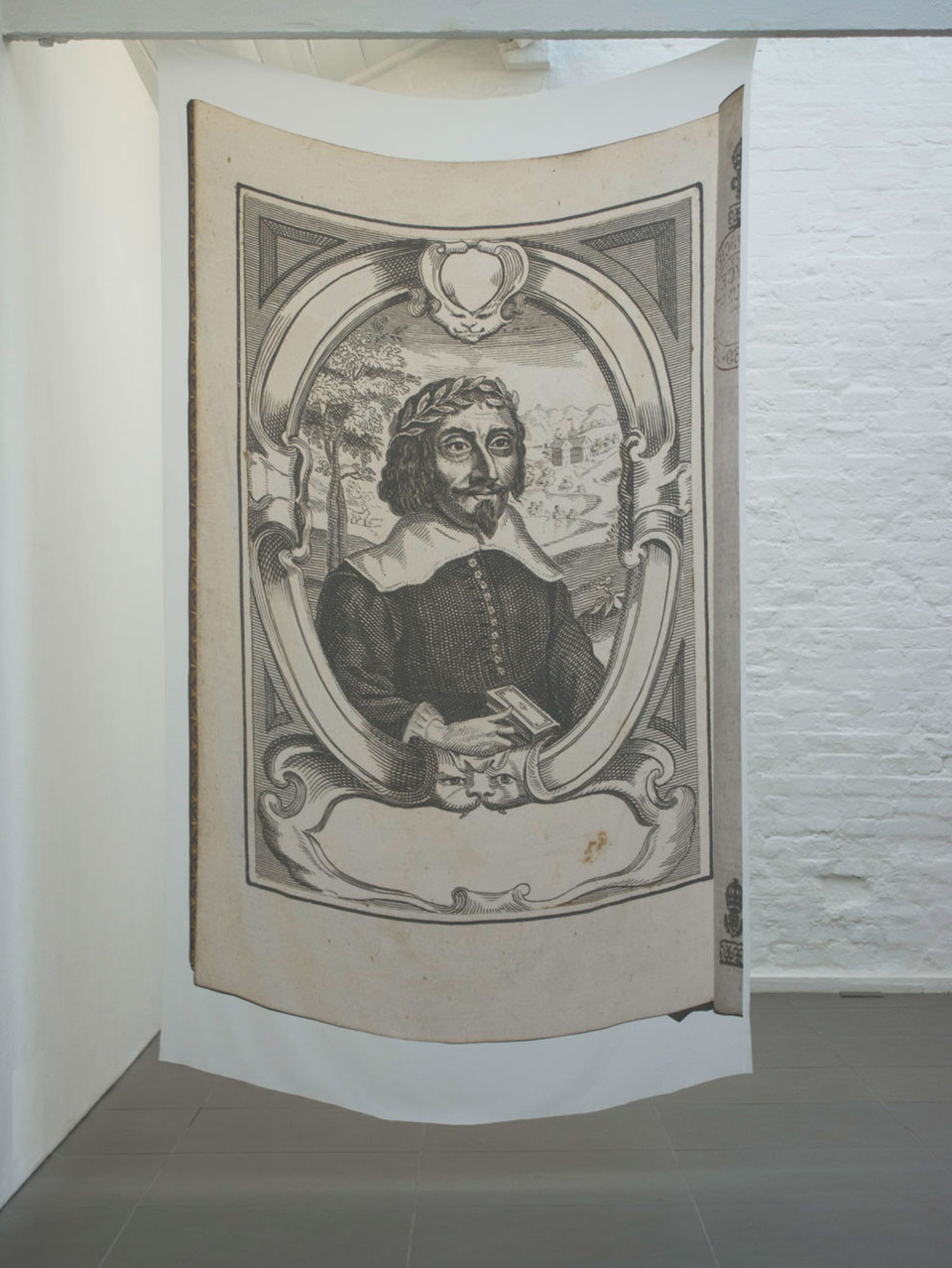 Una Knox, 'Are we not drawn onward, we few, drawn onward to new era?', 2011, digital print on silk, palindrome, 1 of a series of 3, (130 x 220 cm), Cell Project Space