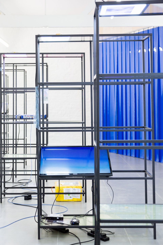 Yuri Pattison, Free Traveller, 'free traveller overview 4', 2014, 'free traveller overview 5', 2014, (main gallery), Cell Project Space